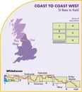 Wandelkaart Coast to Coast west | Harvey Maps