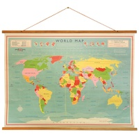 Wereldkaart Vintage World Map | Dotcomgiftshop