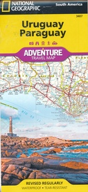Wegenkaart - landkaart 3407 Adventure Map Uruguay - Paraguay | National Geographic