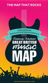 Wegenkaart - landkaart Great British Music Map | Strumpshaw, Tincleton & Giggleswick's Marvellous Maps