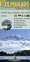 Wandelkaart Kilimanjaro National Park Map of Kibu, Arusha City Map, Moshi City Map | Harms verlag