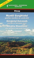 Gurghiu Mountains Map - (northern and central parts)