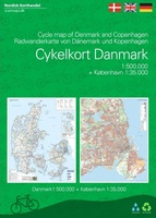 Cykelkort Danmark and Copenhagen – Cycle Map of Denmark