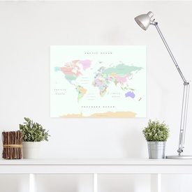 Wereldkaart van kurk Woody Map L Retro | Miss Wood