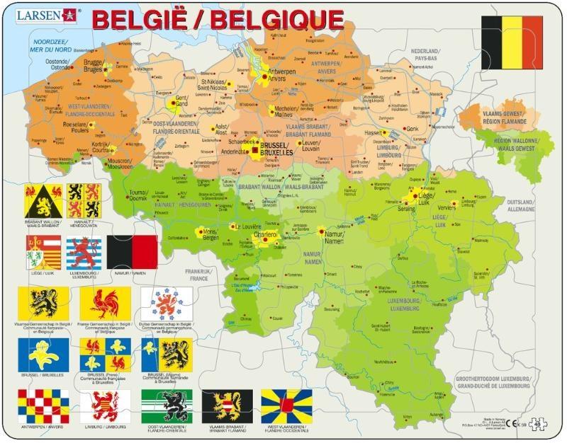 Legpuzzel Belgie Met Provincievlaggen Larsen 7023850221596