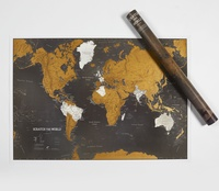 Scratch World Map Black Engels
