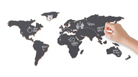 Krijtbord Wereld - Chalkboard World map | Luckies