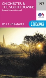 Wandelkaart - Topografische kaart 197 Landranger Chichester & The South Downs, Bognor Regis & Arundel | Ordnance Survey