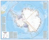 Wandkaart - Magneetbord Antarctica - Zuidpool 120 x 100 cm | Maps International