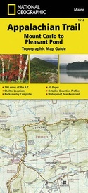 Wandelgids 1512 Topographic Map Guide Appalachian Trail – Mount Carlo to Pleasant Pond  | National Geographic