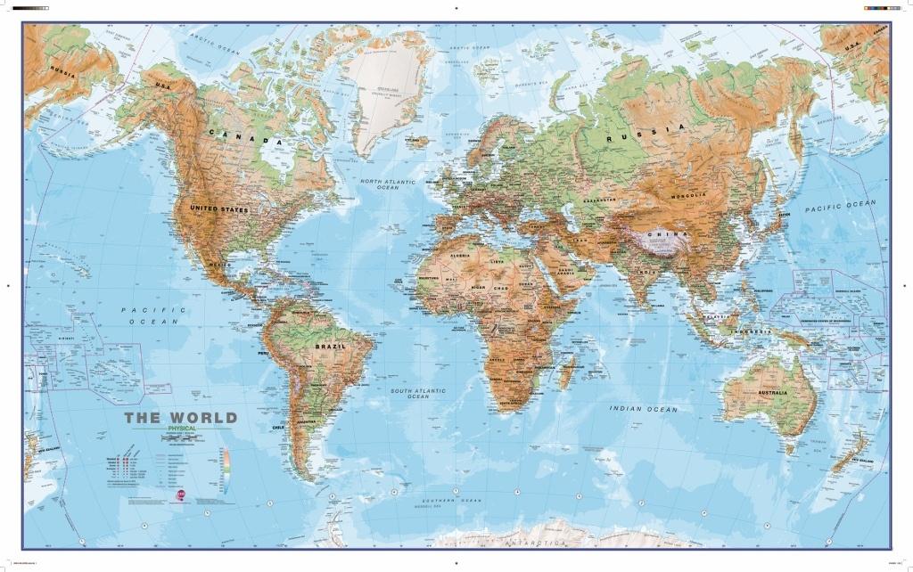 Wereldkaart 69h natuurkundig 136 x 84 cm maps international 0427061072041 reisboekwinkel - Mand linnen huis van de wereld ...
