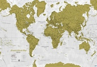 Kraskaart Scratch World Map Engels | Maps International