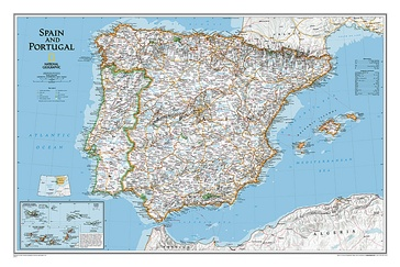 Wandkaart Spain - Spanje & Portugal 83 x 55 cm | National Geographic