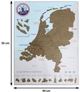 Scratch Map Nederland - kraskaart der Nederlanden | Bubble Up