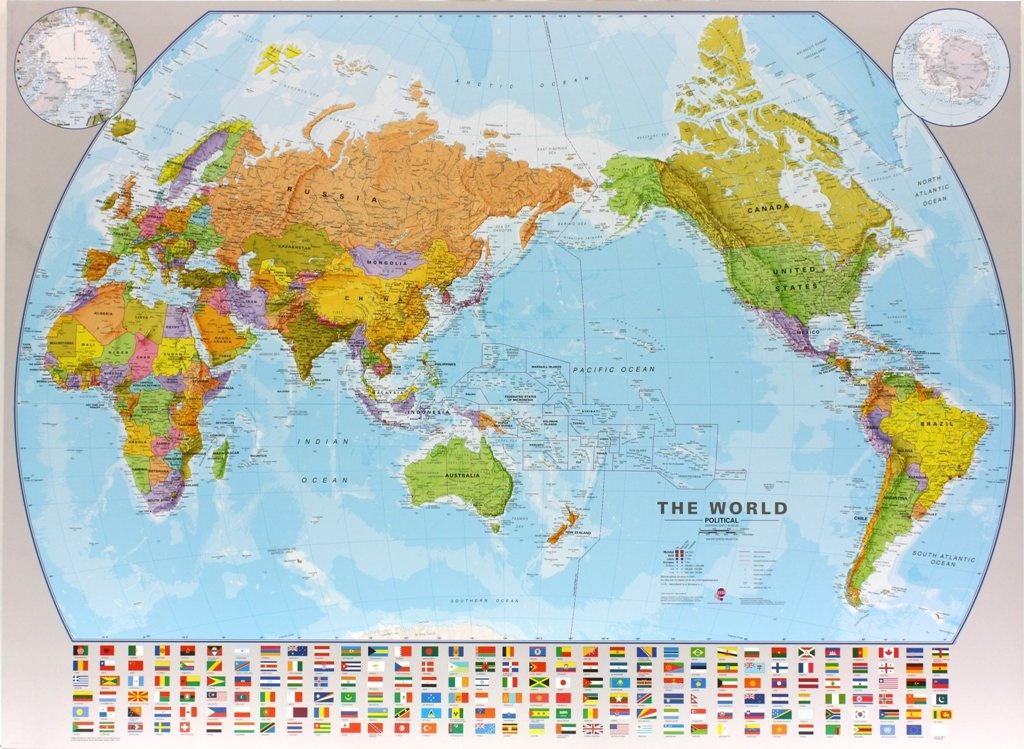 Wereldkaart 60 world pacific centred wall map 136 x 100 cm maps wereldkaart 60 world pacific centred wall map 136 x 100 cm maps thecheapjerseys Choice Image