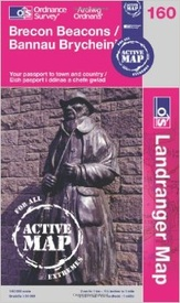 Wandelkaart 160  Active Brecon Beacons | Ordnance Survey