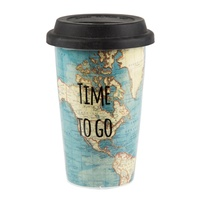 Reisbeker Time to Go Travel Mug