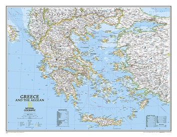 Wandkaart Greece – Griekenland, 77 x 60 cm | National Geographic