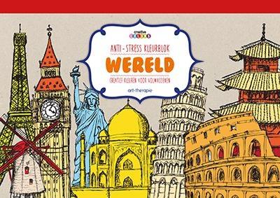 Kleurplaten Voor Volwassenen Parijs.Kleurboek Anti Stress Kleurblok Wereld Voor Volwassenen De
