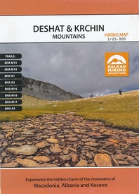 Wandelkaart Deshat & Krchin mountains | Balkan Hiking Adventures