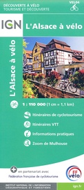 Fietskaart 4 velo L'Alsace à vélo - by bike | IGN - Institut Géographique National