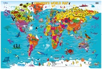 Children's World Map, 92 x 61 cm