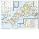 Fietskaart 01 Tour Map Cornwall | Ordnance Survey