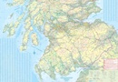Spoorwegenkaart Schotland - Scotland Central and South Rail and Road | ITMB