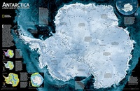 Antarctica Satellite Map, 78 x 50 cm