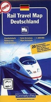 Duitsland Rail Travel Map Deutschland