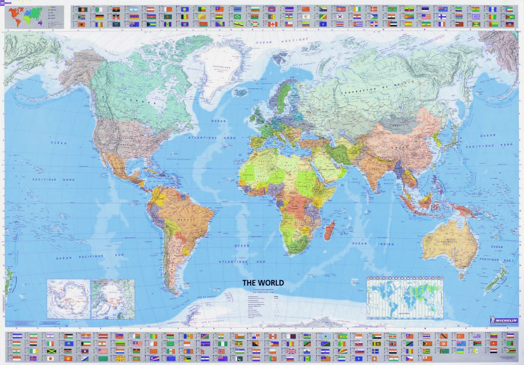 Wereldkaart 01 the world wereld 143 x 100 cm michelin 9782061009901 reisboekwinkel de - Vloerlamp van de wereld ...