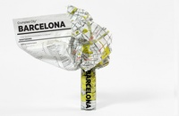 Crumpled City map Barcelona | Palomar