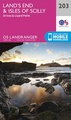 Wandelkaart - Topografische kaart 203 Landranger Land's End & Isles of Scilly, St Ives & Lizard Point | Ordnance Survey