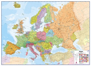 Wandkaart Europa - Europe Huge, 170 x 124 cm | Maps International
