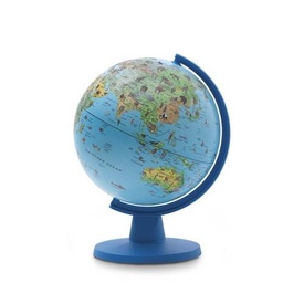 Kinderglobe Dierenglobe - Blue Animal Globe  | Insight Guides