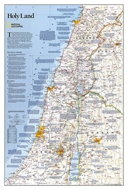 Wandkaart Holy Land – Israël, 53 x 80 cm | National Geographic