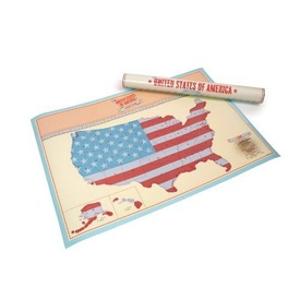 Scratch Map United States of America USA | Luckies
