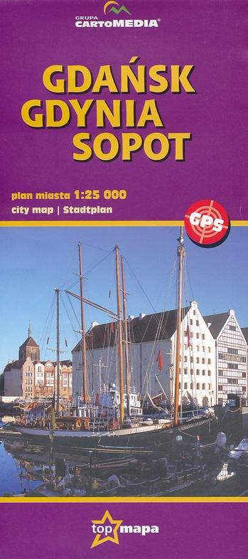 Plattegrond Gdansk Cartomedia 9788374451543