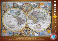 Wereld antiek vintage - Antique World Map
