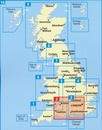 Wegenkaart - landkaart 2 Road Map Britain  Central Southern England | AA
