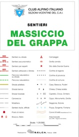 Wandelkaart Massiccio del Grappa | Club Alpino Italiano