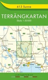 Wandelkaart - Topografische kaart 613 Terrängkartan Sunne | Lantmäteriet