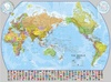 Wereldkaart (60) World Pacific-centred Wall Map 136 x 100 cm | Maps International