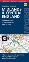05 Wegenkaart - Road Map Britain 5 Midlands & Central England - Centraal Engeland | AA Publishing