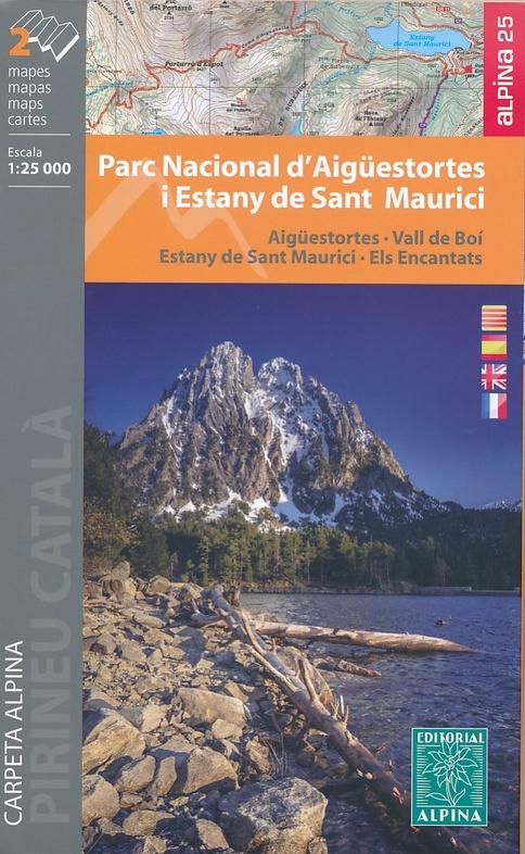 Wandelkaart 23 Parque Nacional De Aiguestortes Y Estany De Sant Maurici Editorial Alpina 9788480908443 Reisboekwinkel De Zwerver