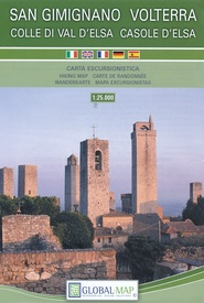 Wandelkaart San Gimignano - Volterra | Global Map | €11,95