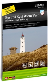 Wandelkaart Kyst til Kyst stien: West - Coast to Coast path West | Calazo