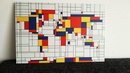 Wereldkaart Mondriaan World Map