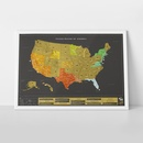 Scratch Map United States of America USA de Luxe | Luckies