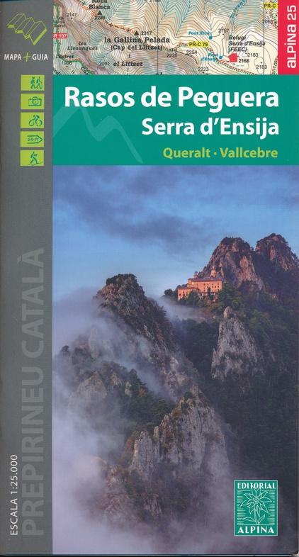 Wandelkaart 37 Rasos De Peguera Editorial Alpina 9788480907705 Reisboekwinkel De Zwerver